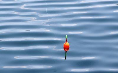 Hoe peil je een dobber uit op open water?